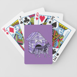 Doghouse Bicycle Playing Cards