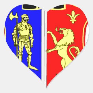 Dogis Resort Souvenir Heart Sticker
