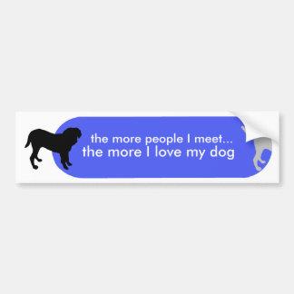 "Dogism's ""True Love"" Blue Bumper Sticker"