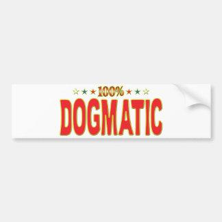 Dogmatic Star Tag Bumper Stickers