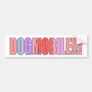 dogmobile bumper sticker
