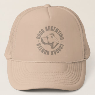 dogo argentino cougar hunter trucker hat
