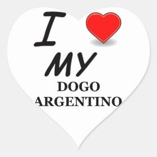 dogo argentino heart sticker