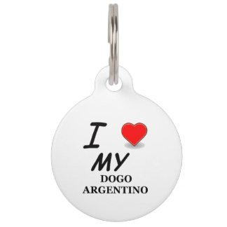 dogo love pet name tag