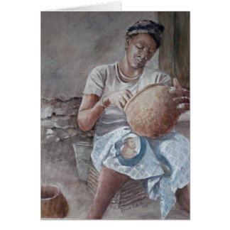 Dogon Pottery Maker Mama Card