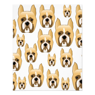 Dogs, A Pattern of Boxers. Flyers