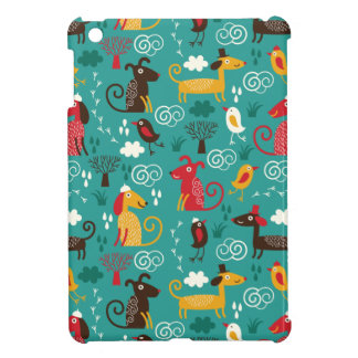Dogs and birds iPad mini covers