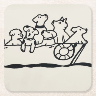 """Dogs and Boats""  Coasters"