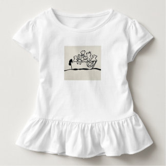 """""""Dogs and Boats""""  Toddler Ruffle T-shirt"""
