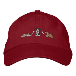 Dogs and Bones Embroidered Hats
