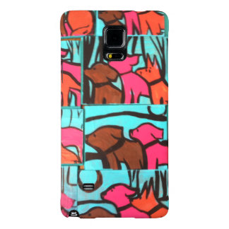 Dogs and Cats Paintings Galaxy Note 4 Case