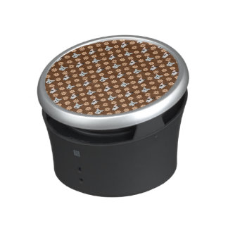 Dogs and Flowers Brown Bluetooth Speaker