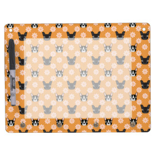 Dogs and Flowers Gold Dry Erase Board