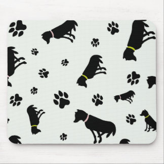 dogs and footprints mousepad