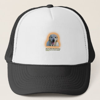 Dogs are better than human beings trucker hat