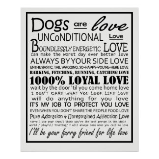 Dogs are Love Poster