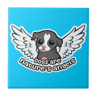 Dogs are Natures angels Ceramic Tile