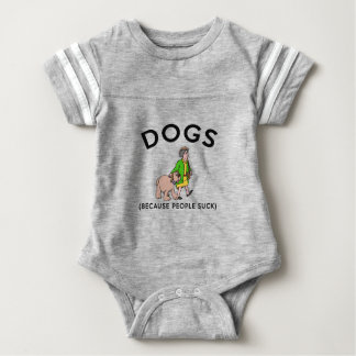 dogs because people suck baby bodysuit