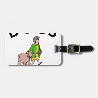 dogs because people suck luggage tag