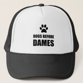 Dogs Before Dames Funny Trucker Hat