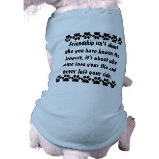 Dogs best friend sleeveless dog shirt
