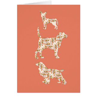 Dogs & Bones Greeting Cards