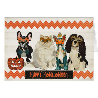 Dogs & Cat Howloween Card