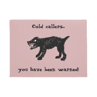 Dogs cold callers doormat