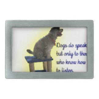 Dogs do speak belt buckle