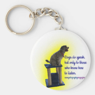 Dogs do speak key ring