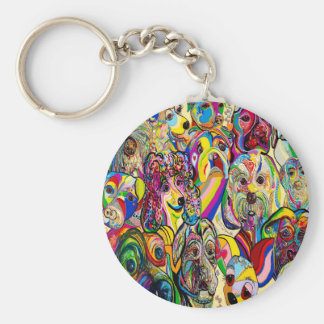 Dogs, Dogs, DOGS! Key Ring