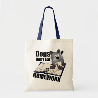 Dogs Don't Eat Homework Tote Bag