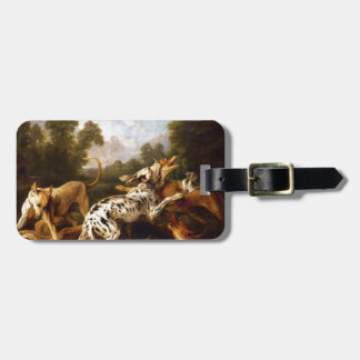 Dogs fighting by Frans Snyders Bag Tags