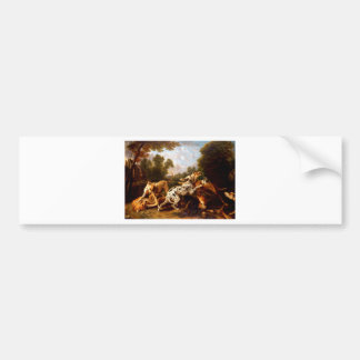 Dogs fighting by Frans Snyders Bumper Sticker