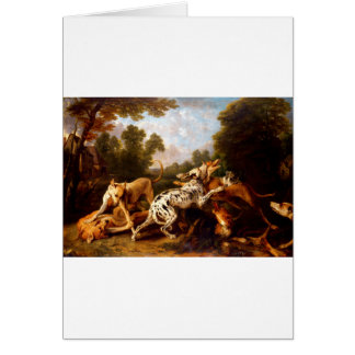 Dogs fighting by Frans Snyders Card