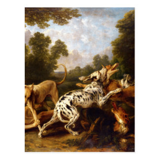 Dogs fighting by Frans Snyders Postcard