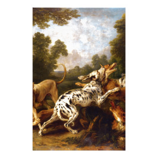 Dogs fighting by Frans Snyders Stationery Design
