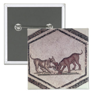 Dogs Fighting for a Bird, Roman, 2nd-3rd century ( 15 Cm Square Badge