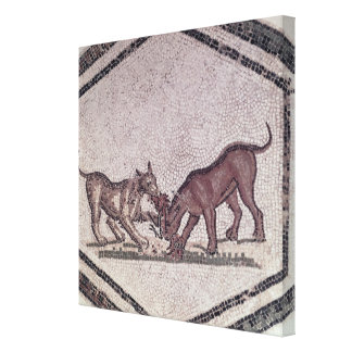 Dogs Fighting for a Bird, Roman, 2nd-3rd century ( Stretched Canvas Prints