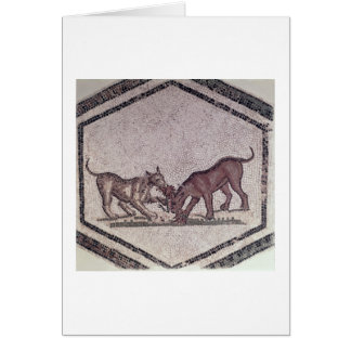 Dogs Fighting for a Bird, Roman, 2nd-3rd century ( Card