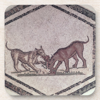 Dogs Fighting for a Bird, Roman, 2nd-3rd century ( Drink Coasters