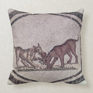 Dogs Fighting for a Bird, Roman, 2nd-3rd century ( Pillow