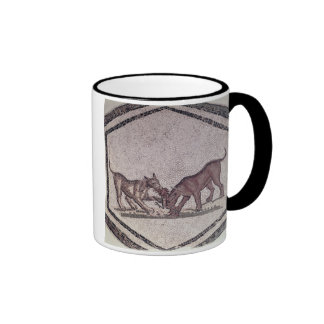 Dogs Fighting for a Bird, Roman, 2nd-3rd century ( Mugs