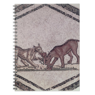 Dogs Fighting for a Bird Roman 2nd-3rd century Spiral Notebook