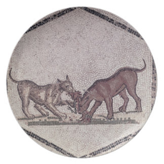 Dogs Fighting for a Bird, Roman, 2nd-3rd century ( Plates