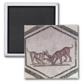 Dogs Fighting for a Bird, Roman, 2nd-3rd century ( Square Magnet