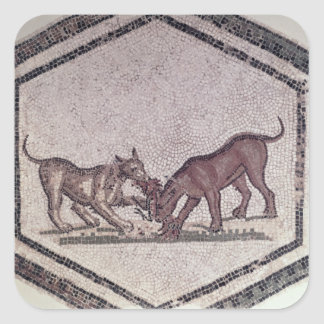 Dogs Fighting for a Bird, Roman, 2nd-3rd century ( Square Stickers
