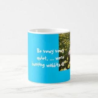 dogs flowers, Be vewy vewy quiet, ... were hunt... Coffee Mug