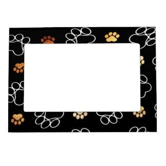 Dogs footsteps patterns magnetic frame