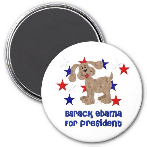 Dogs For Obama Refrigerator Magnet